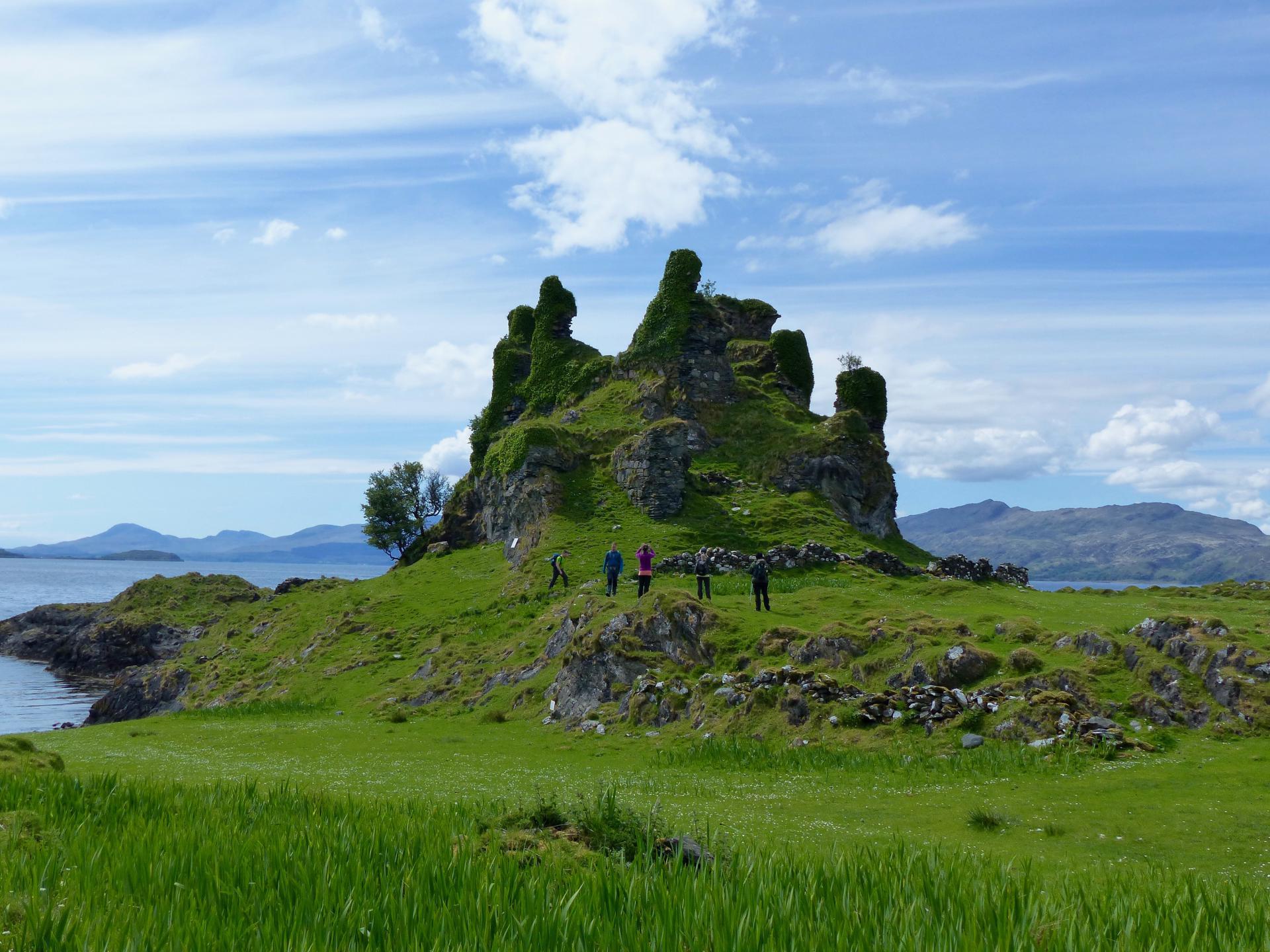 Wanderer auf Lismore, Argyll Wanderreise
