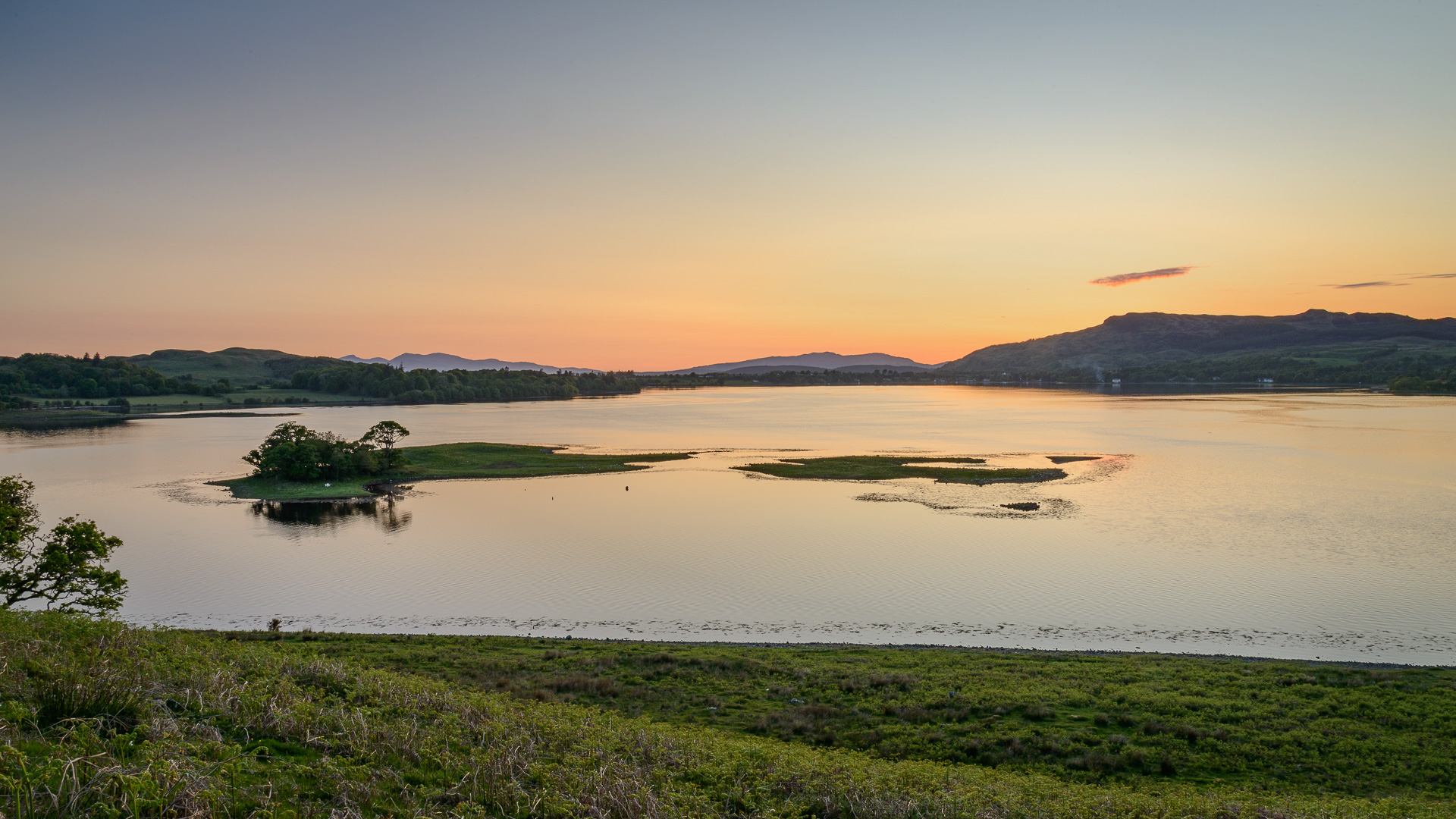 Sonennuntergang Loch Leven
