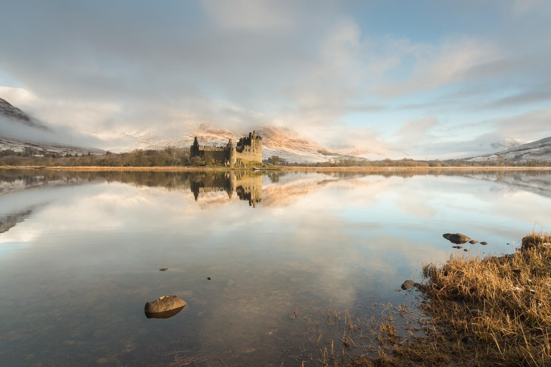 Wintermorgen, Kilchurn Castle, Glencoe Fotoreise