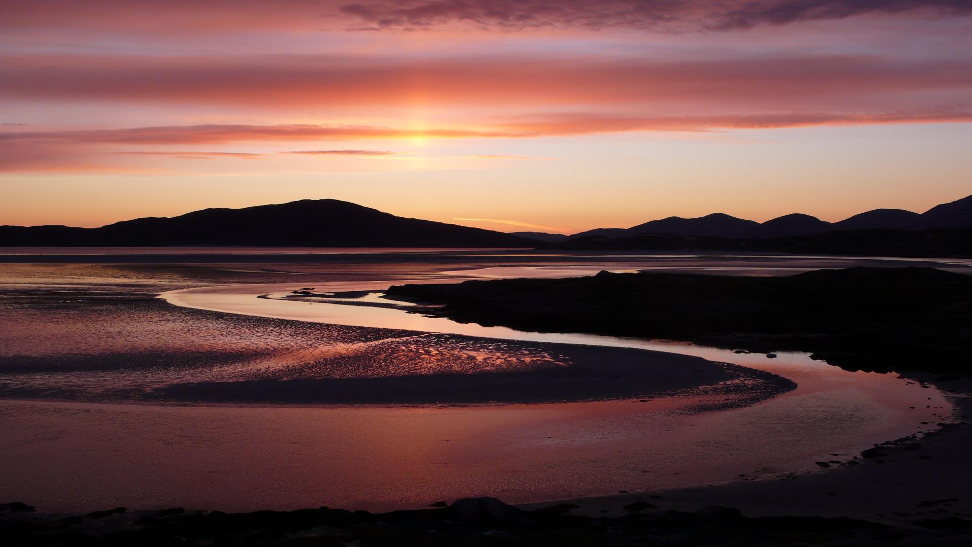 Seilbost Sonnenuntergang