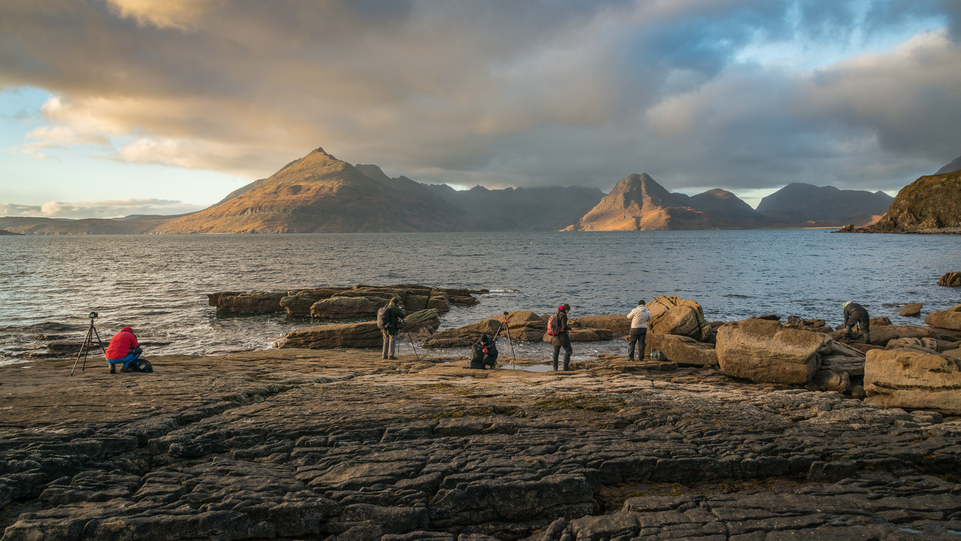 Ankunft vor dem Sonnenuntergang bei Elgol, Isle of Skye