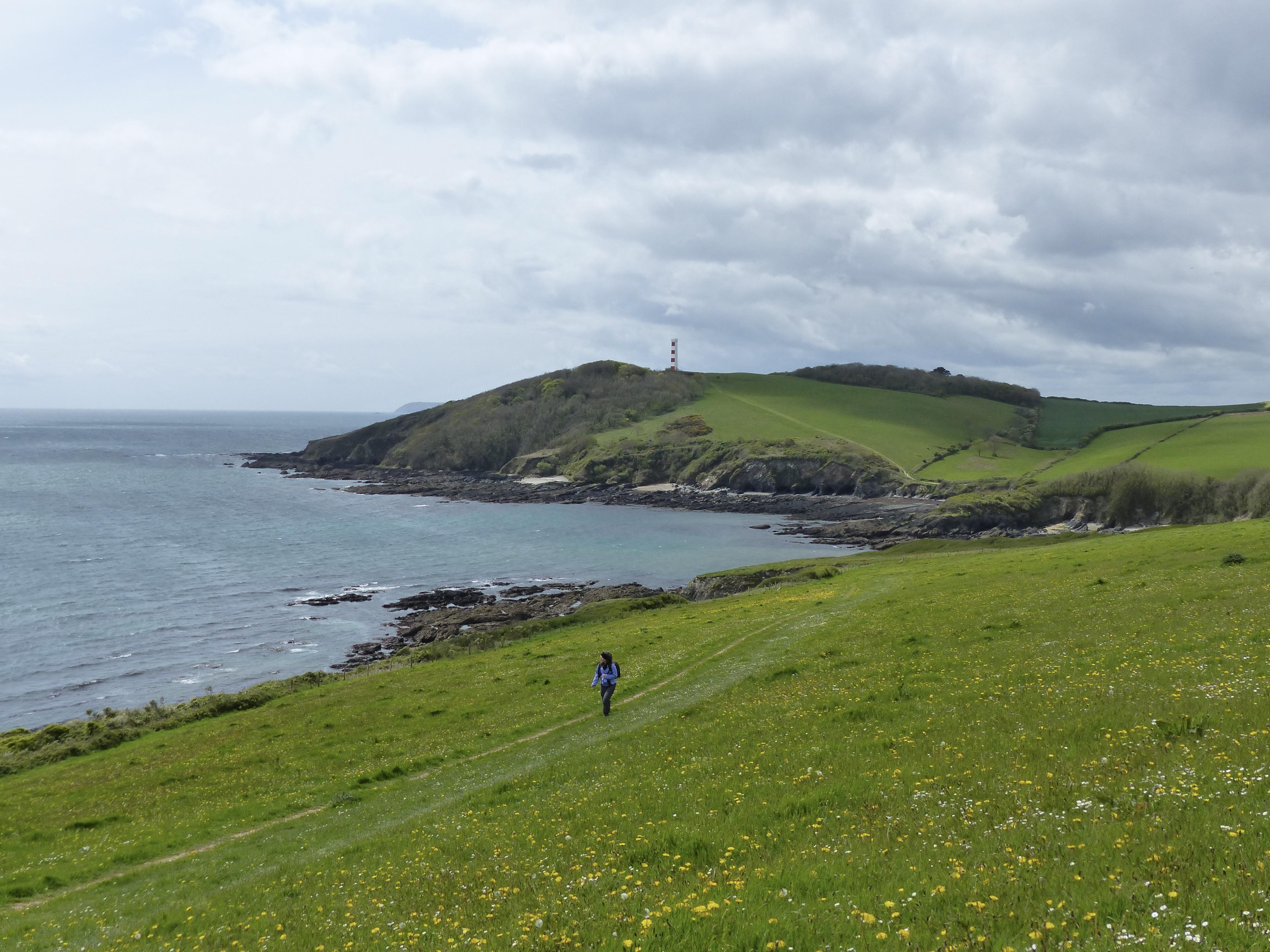 Wandern an der Küste vor Menabilly