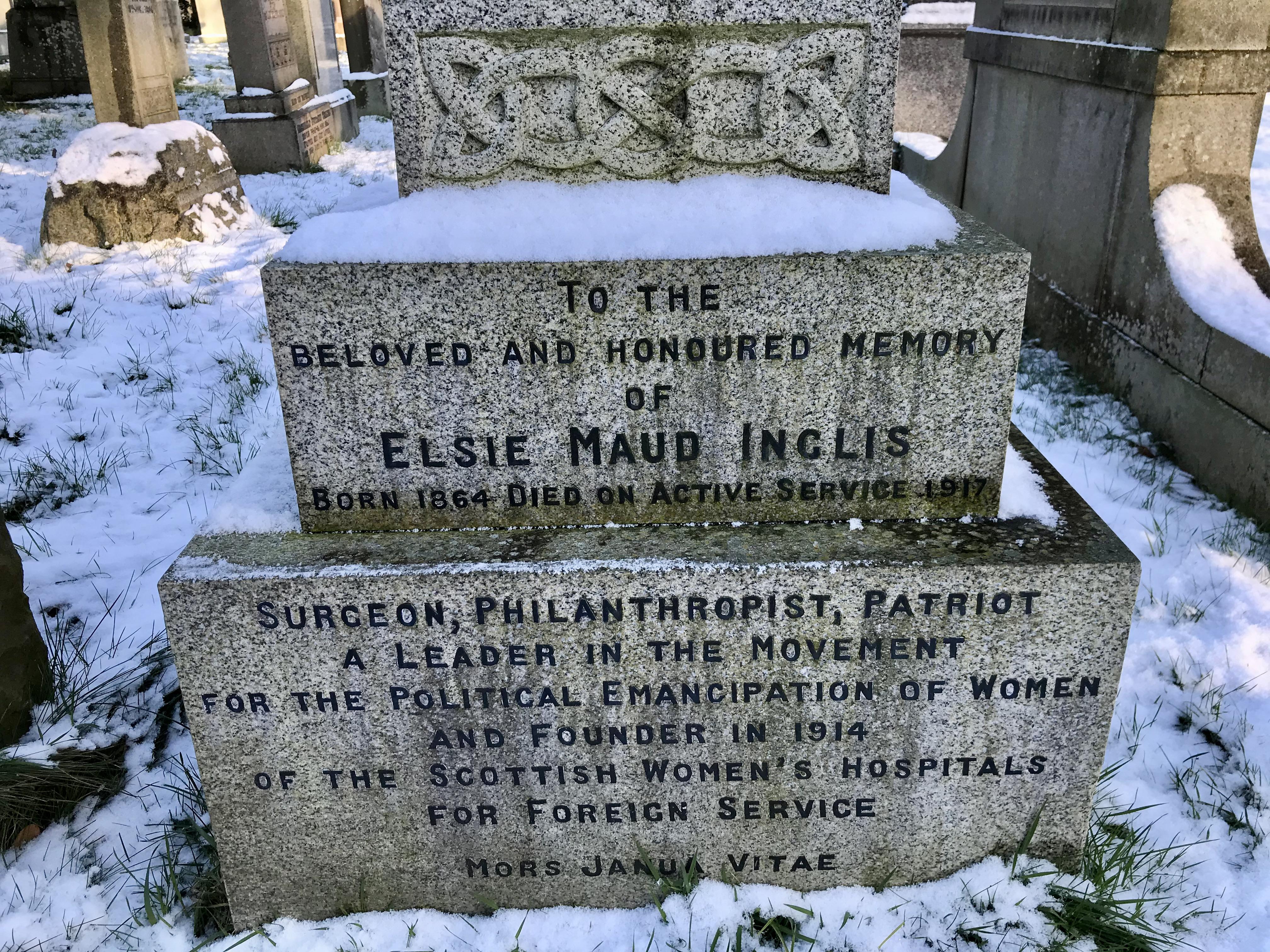 Elsie Inglis Grabstein