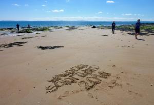 Strand Wanderung