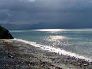 Licht , Schatten, Wasser - Criccieth Küste