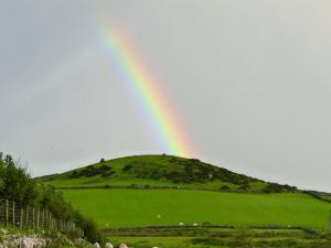 Regenbogen über Criccieth