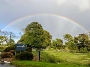 Regenbogen vor unserer Unterkunft