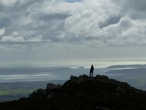 Wanderer am Gipfel