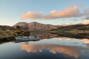 Sonnenuntergang bei Loch Stack, NW Highlands Fotoreise