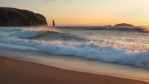 Sonnenuntergang bei Sandwood Bay
