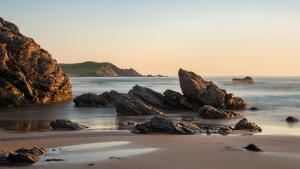 Tagesanbruch am Strand von Sango, Durness, Fotoreise Schottland