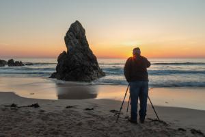 Sonnenstern zu früher Stunde, Sango Beach, Durness