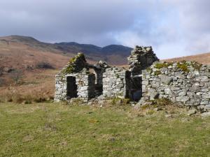 Ruine oberhalb von Loch Earn