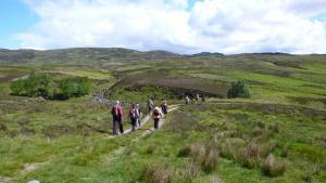 Wanderer in den südlichen Highlands
