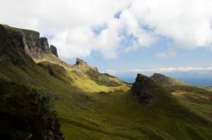 Sonnenflecken am Quiraing, Skye