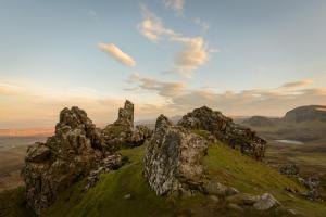 Abendliche Wolkenstimmung am Quiraing, Skye Fotoreise