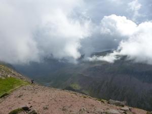 Wolken über Lairig Ghru
