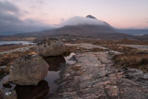 Windiger Sonnenuntergang, Beinn Damh, Torridon Fotoreise
