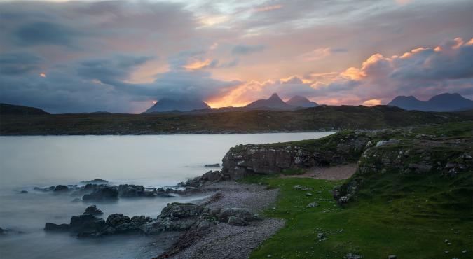 Sonnenuntergang bei Achnahaird, Assynt Fotoreise